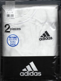 アディラス【楽天市場】【グンゼ】【定番】GUNZEグンゼ adidas【クルーネックTシャツ2枚組】0132