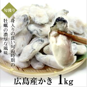 広島産かき1kg(解凍後850g)Mサイズ(45〜55粒前後)【広島産牡蠣/お徳用】