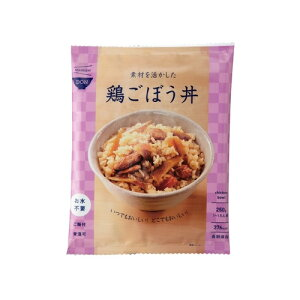 イザメシ DON 素材を活かした鶏ごぼう丼 [1袋サイズ:W200×H255mm/250g]
