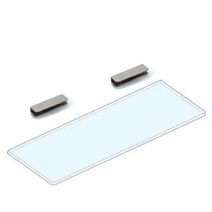 【ポイント5倍! 8/8〜8/17】強化ガラス棚板+棚受セット 【LAMP】 2881VA2-450-SET ステンレス鋼 サテン仕上 W450×D150×t8 ガラス棚板付