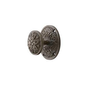 アンティーク片面ドアノブ 【MK】 mehd-054 [真鍮・アンティークブラック] サイズ:φ83×H60 片面タイプ