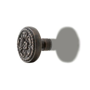 アンティーク両面ドアノブ 【MK】 mgc-019 [真鍮・アンティークブラック] サイズ:φ83×H63.2 両面タイプ