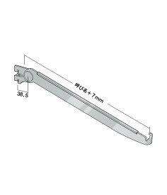 ツメ付き ガラス棚 棚受 傾斜ブラケット外々用【 ロイヤル 】クロームめっき AG-201S 呼び名:300