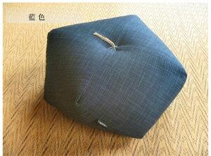 瞑想座禅用座布団藍色