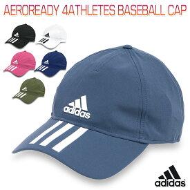 アディダス AEROREADY 4ATHLETES BASEBALL CAP メンズ/レディース/キッズ/子供 キャップ ブラック/ホワイト/ネイビー/ピンク 51-54cm/54-57cm/57-60cm/60-63cm 25604