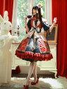 中国風ロリータOPドレスインファンタ着物プリーツフリンジプリーツロリータワンピースドレス