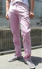 イタリアインディペンデント(Italia Independent) メンズ カラーコットンパンツ チノパンツ5ポケットカラージーンズ デニム パンツItalia Independent-21100-P51-052【ピンク】送料無料