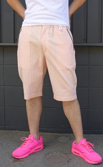 カプリ(capri)送料無料メンズ スプリングサマー ショートパンツ ハーフパンツ 短パン ウェストリブbarassi-8231-4501【オレンジ】【ブルー】【ベージュ】