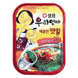 【韓国食品・缶詰】泉標 えごまの葉キムチ缶 (辛口)70g
