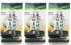 【宋家】伝統のり(緑色・カット)8切×10枚×3袋