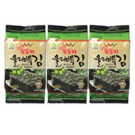 【オクドンジャ】 オリブ油のりお弁当海苔(8切x8枚x3個)x3袋