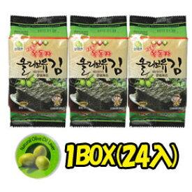 【オクドンジャ】 オリブ油のりお弁当海苔(8切x8枚x3個)x24個x1箱★1個当り¥98(税別)
