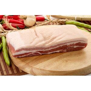 【キャンプ&BBQ】【豚肉】【輸入産】『量り売り』皮付豚バラブロック1kg★クール便選択対象商品★