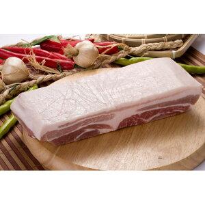 【キャンプ&BBQ】【豚肉】【輸入産】『量り売り』豚三段バラブロック1kg★クール便選択対象商品★