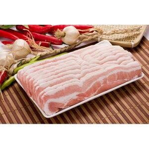 【豚肉】【輸入産】〔お試し三段豚バラスライス(炒め用単品3mm/500g〕★クール便選択対象商品★