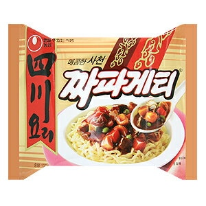 【韓国食品・ラーメン】農心 四川料理チャパゲティ 137g 1BOX(40個入)