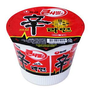 【韓国食品・韓国ラーメン】農心 辛カップラーメン(大) 114g 1BOX(16個入) [1箱以上値下げ1個当たり¥133税別]