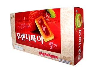 【韓国食品・お菓子】ヘテフレンチパイ(イチゴ味/10入)192g
