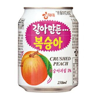 磨碎的桃汁 (罐装) ♦ 韩国食品 ♦ / 韩国 / 韩国饮料 / 韩国饮料 / 韩国果汁 / 饮料 / 饮料 / 果汁 / 饮料 / 饮料便宜