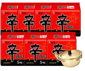 (送料無料)農心辛ラーメン1BOX35+韓国ラーメン専用鍋付き(14cm)