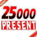 25000 present