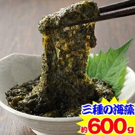 北海道函館前浜産 ねばり三海藻約600g(約120g×5袋)