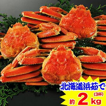 北海道紋別浜茹で ずわい蟹姿 3杯(約2kg)