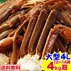 【1000円OFFクーポン】大型4L生ずわい蟹肩脚 12〜14肩 4kg超【送料無料】[生ズワイガニ|生ずわいがに|生ずわい蟹|肩脚のみ|ずわい蟹|ズワイ蟹|ズワイガニ|ズワイ|かに]