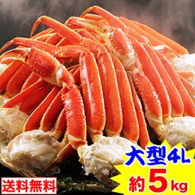 大型4Lボイルずわいがに肩脚 14〜16肩(約5kg)|茹で|ボイルずわい|ボイルズワイ|ボイルずわい蟹|ずわい蟹|ズワイ蟹]