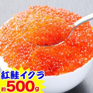 ★北海道加工 紅鮭イクラ(超小粒) 約500g(約250g×2パック)【いくら】