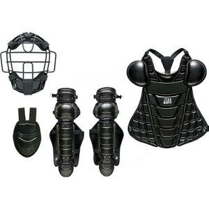 ZETT軟式キャッチャー防具4点セット(マスク、スロートガード、プロテクター、レガーツ)BL358ブラック展示会限定品ゼットベースボール野球