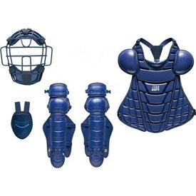 ゼット 軟式 キャッチャー 防具 4点セット(マスク スロートガード プロテクター レガーツ) BL358 ネイビー 展示会限定品 ベースボール 野球