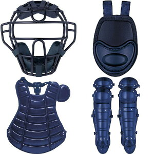 ゼット硬式キャッチャー防具4点セット(マスクスロートガードプロテクターレガーツ)合成皮革仕様BL041A野球展示会限定品