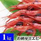 ナンバンエビ甘エビ2〜3Lサイズ1kg(50尾前後入り)甘海老のプリップリの食感とトロける甘み、蝦味噌も絶品。お刺身、お寿司で食べられる甘えび。なんばんえび/南蛮海老北海道グルメ食品魚介類・シーフードエビあまエビ(父の日ギフト)