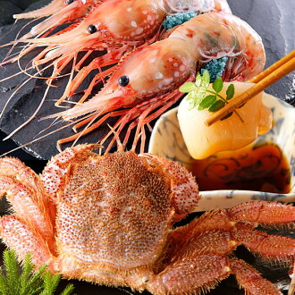 Horsehair crab, spot prawns and scallops seafood set