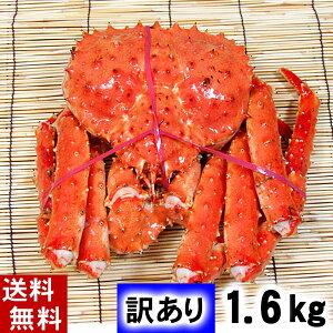 (送料無料)訳あり タラバガニ たらばがに 姿 1.6kg前後 ボイル冷凍 足御折れありのわけあり品。たらば蟹食べきりサイズのカニ姿です。かに飯や、焼きガニも美味しい。北海道グルメ