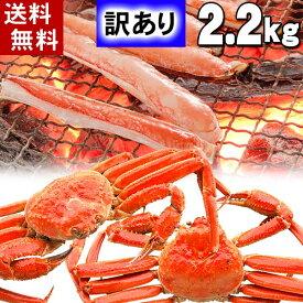 (送料無料) 訳あり ずわいがに かに姿 合計2.2kg前後(3尾入り)ボイル冷凍 足折れありのわけあり品。ズワイガニのカニ身、かに味噌が食べられます。ずわい蟹/松葉ガニ 北海道グルメ食品 魚介類  (ギフト食品)