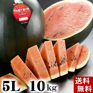 (送料無料)特大でんすけすいか 秀品 5L 10〜11kg 黒い皮の中には赤の果肉、伝助・田助西瓜。ギフトに喜ばれる北海道のデンスケスイカ/でんすけスイカ、旬のフルーツ通販 グルメ食品 フルー