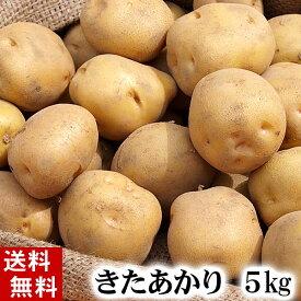 (送料無料) じゃがいも 北あかり 5kg(新じゃが・芋・栗ジャガ・キタアカリ) 北海道産のジャガイモ、きたあかりです。肉じゃが、じゃがバター、コロッケの調理に。北海道グルメ食品 野菜・きのこ ジャガイモ キタアカリ