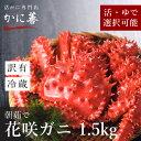 訳あり 花咲ガニ 活花咲蟹 1.5kg前後 (活の重量) 活・活茹で選べます 冷蔵 はなさき かに カニ