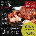 送料無料 活毛ガニ 400g前後×2尾 北海道産 冷蔵 かに 毛蟹 活かに 活蟹 刺身も ギフト 贈答 内祝い