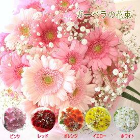 ガーベラとカスミ草の花束 花 ギフト 送料無料 花 ギフト フラワーギフト お祝い 結婚祝い 記念日 誕生日 母の日 お見舞い お供え