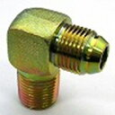 鉄製高圧継手 33タイプ90°エルボ平行ガスオネジ(でっぱりシート)×Rオネジ異径サイズ33-0812   G1/2×R3/4(mm)