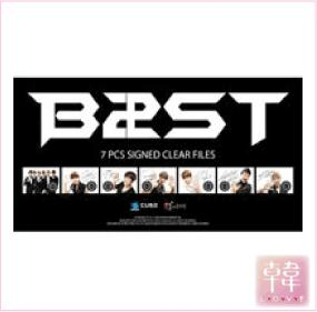 【K-POP・韓流】 【ゆうメール発送】BEAST /クリアファイル7種セット(10003317)