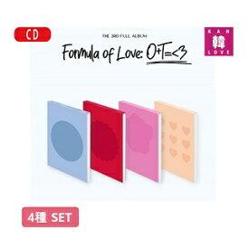 【Withdrama特典付き】【初回特典ポスター丸め4種セット付き】TWICE【Formula of Love】THE 3RD FULL ALBUM トォワイス CD アルバム/おまけ:生写真+トレカ(8809755509156-03)