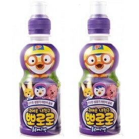■韓国ヤクルト パルド ポロロジュース ブルーベリー味235ml ペット ×2本