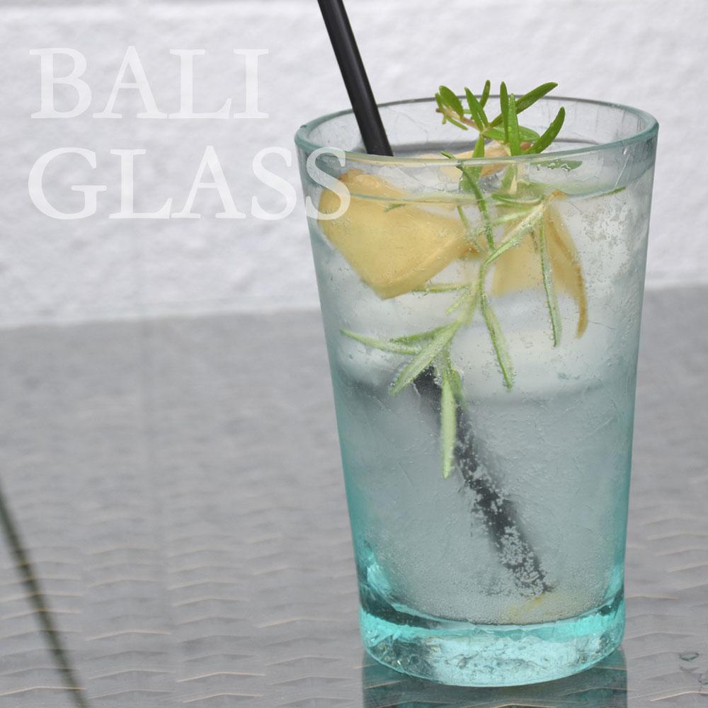 BALI バリガラスグラス/Lサイズ グラス ビアグラス タンブラー ジョッキグラス コップ ガラス ガラスコップ 食器 洋食器 バリガラス おしゃれ オシャレ シンプル テーブルウェア ブルー 水色 青 オブジェ 花器 花瓶 インテリア アジアン バリ インテリア雑貨