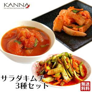 サラダキムチ3種お試しセット (計800g) 【地域別送料無料】セロリ トマト 山芋 手作り 韓国料理