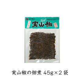 【メール便】【送料無料】ご飯のお供 実山椒 佃煮 45g×2袋 丹波篠山産