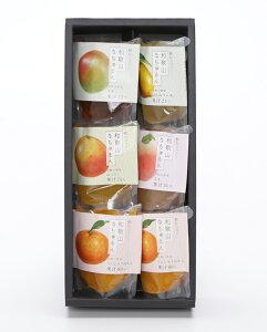 観音山ジェリー6個(みかん2個、はっさく、レモン、もも、うめ各1個)